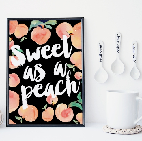 sweet as a peach black mockup